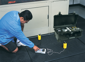 Testing floor matting