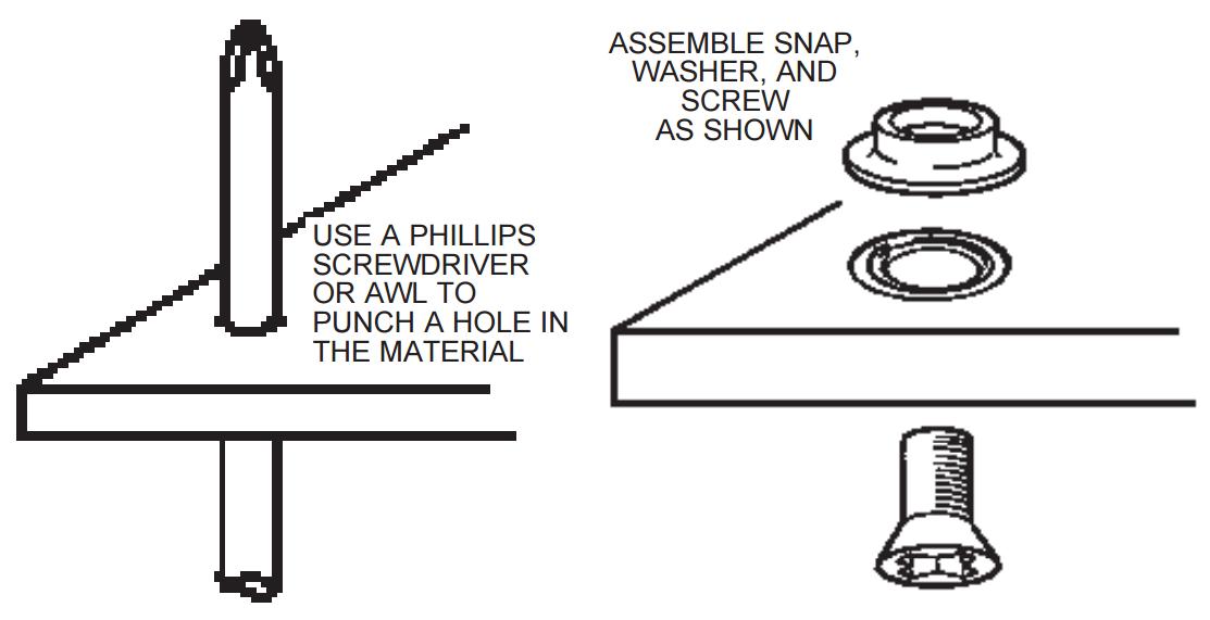 Installing Screw-on Mat Grounding Snap