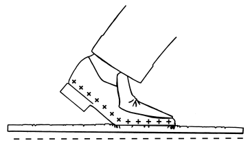 Generating Charges by walking across a Carpet