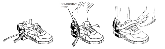Installation of Foot Grounders with Hook-and-Loop Straps
